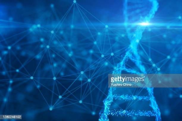 biotechnology molecular structure and network - 医療とヘルスケア ストックフォトと画像