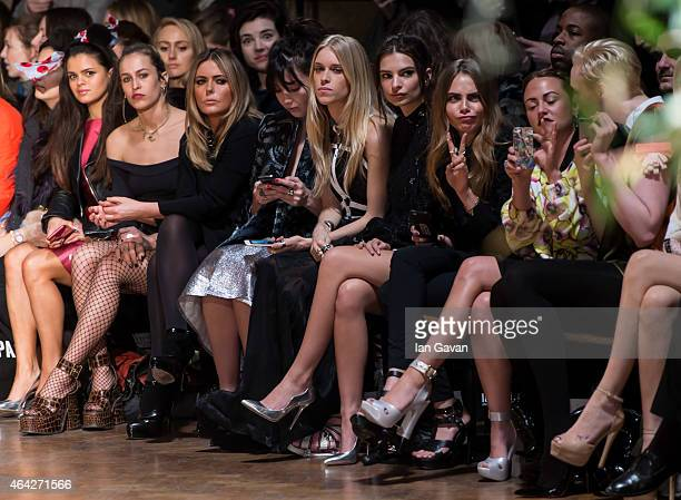 Bip Ling Alice Dellal Patsy Kensit Daisy Lowe Mary Charteris Jaime Winstone and Gwendoline Christie attend the GILES show during London Fashion Week...