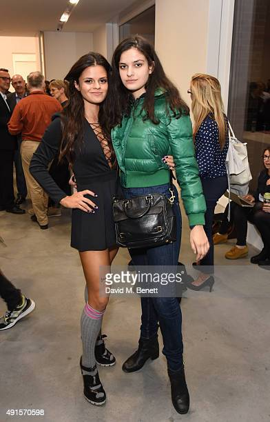 Bip Ling and Evangeline Ling attend the launch of Damien Hirst's Newport Street Gallery on October 6 2015 in London England