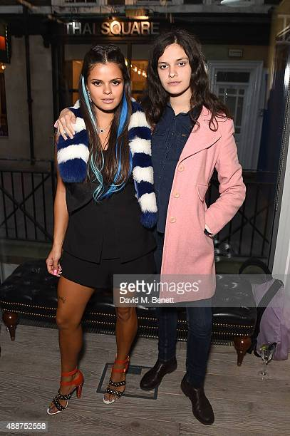 Bip Ling and Evangeline Ling attend the Launch of GHD SM Pop Up Studio for London Fashion Week on September 17 2015 in London England