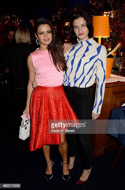 Bip Ling and Evangeline Ling attend the Sunday Times Style Xmas Party at Tramp on December 9 2014 in London England