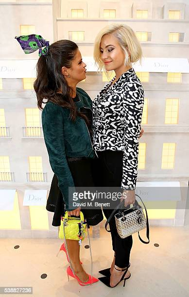 Bip Ling and Pixie Lott attend the opening of the House Of Dior on New Bond Street on June 8 2016 in London England