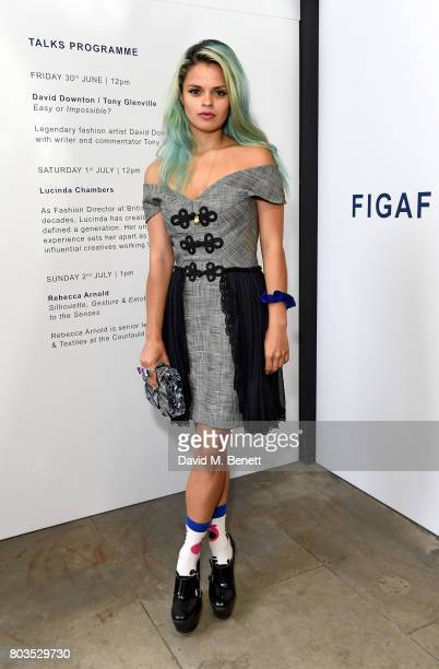 Bip Ling attends the Fashion Illustration Gallery Art Fair private view at The Shop at Bluebird cohosted b Lucinda Chambers and Wendy Yu on June 29...