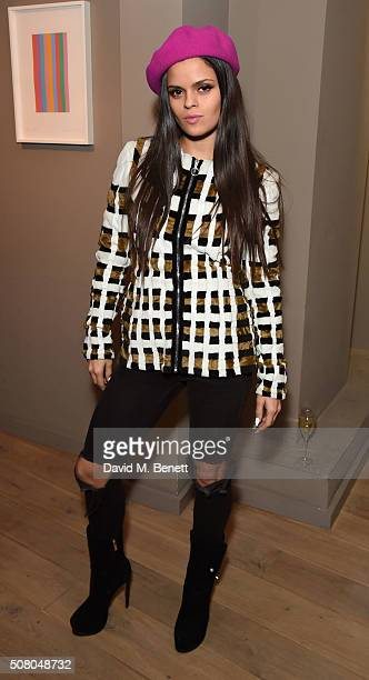 Bip Ling attends the Richard Braqo VIP dinner at 155 Bar and Kitchen on February 2 2016 in London England
