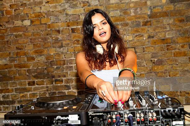 Bip Ling is seen DJing during The Superdry SS15 Event on June 14 2014 in London England