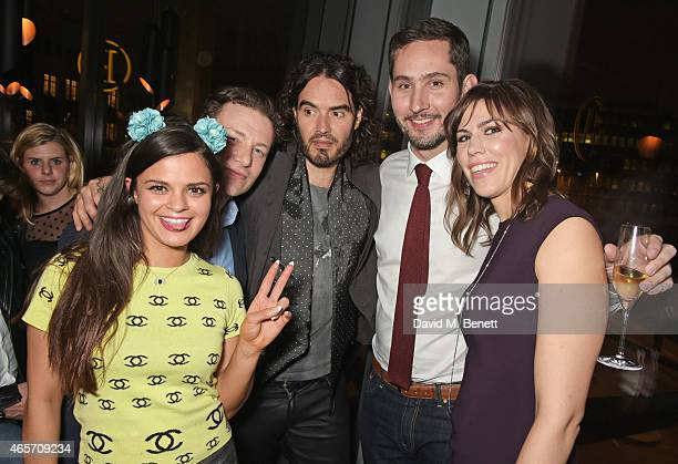 Bip Ling Jamie Oliver Russell Brand Kevin Systrom and Nicole Schuetz attend a party hosted by Instagram's Kevin Systrom and Jamie Oliver This is...