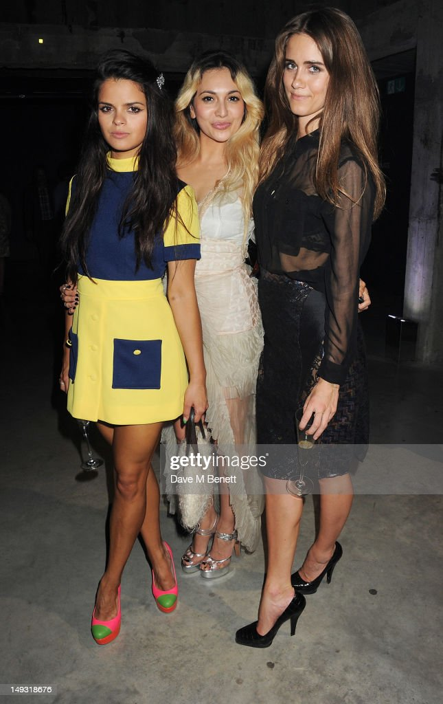 Bip Ling, Zara Martin and Jade Williams aka Sunday Girl attend the Warner Music Group Pre-Olympics Party in the Southern Tanks Gallery at the Tate Modern on July 26, 2012 in London, England