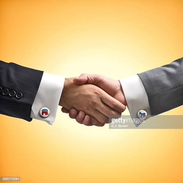 Bipartisan handshake
