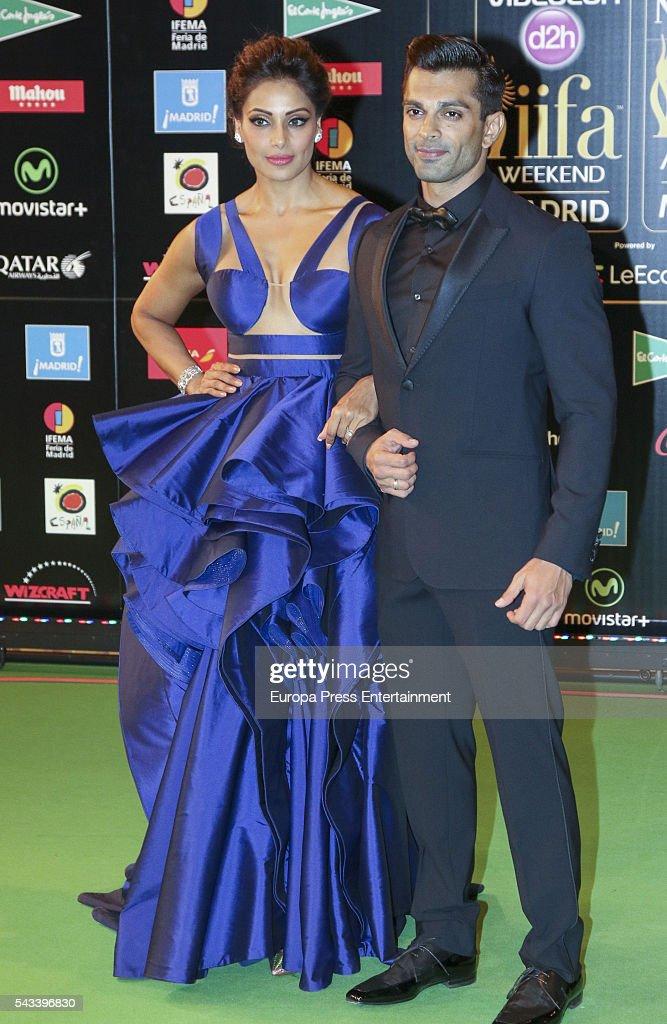 Bipasha Basu and husband Karan Singh Grover attend IIFA Awards green carpet during the 17th edition of IIFA Awards the International Indian Film...