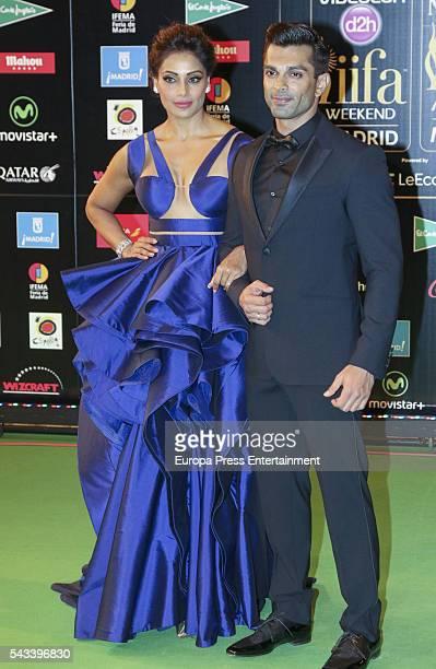 Bipasha Basu and husband Karan Singh Grover attend IIFA Awards green carpet during the 17th edition of IIFA Awards, the International Indian Film...