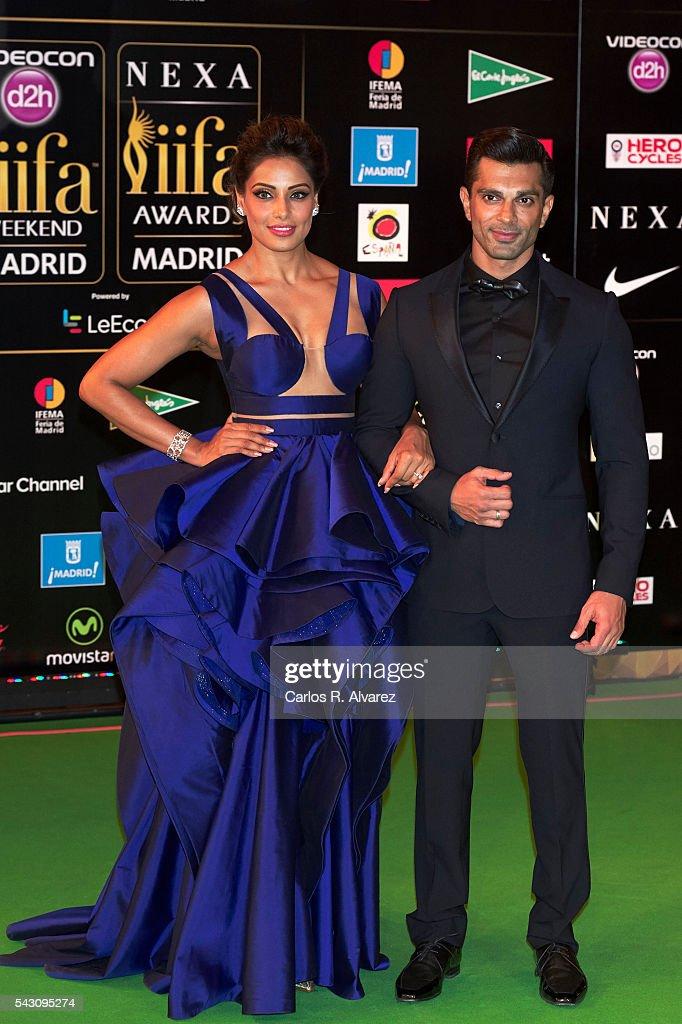 Bipasha Basu and husband Karan Singh Grover attend the 17th IIFA Awards at Ifema on June 25 2016 in Madrid Spain