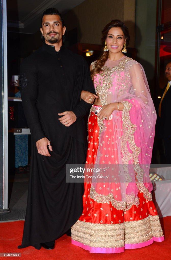 Bipasha Basu and Karan Grover during the wedding reception of actor Neil Nitin Mukesh in Mumbai