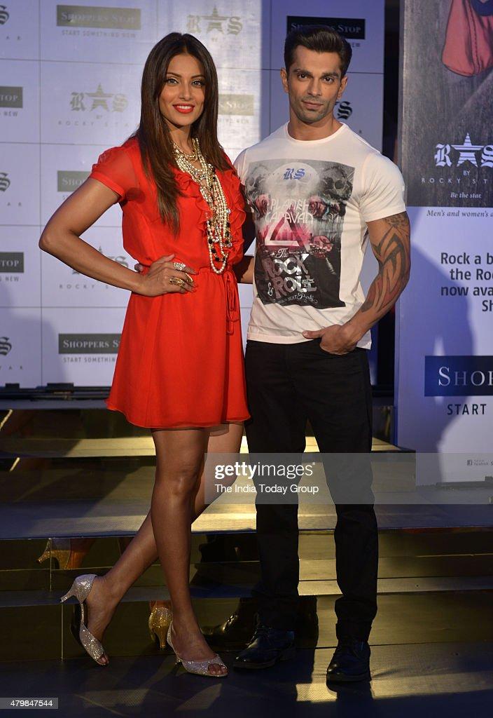 Bipasha Basu and Karan Singh Grover at the launch of Fashion designer Rocky S new brand in Mumbai
