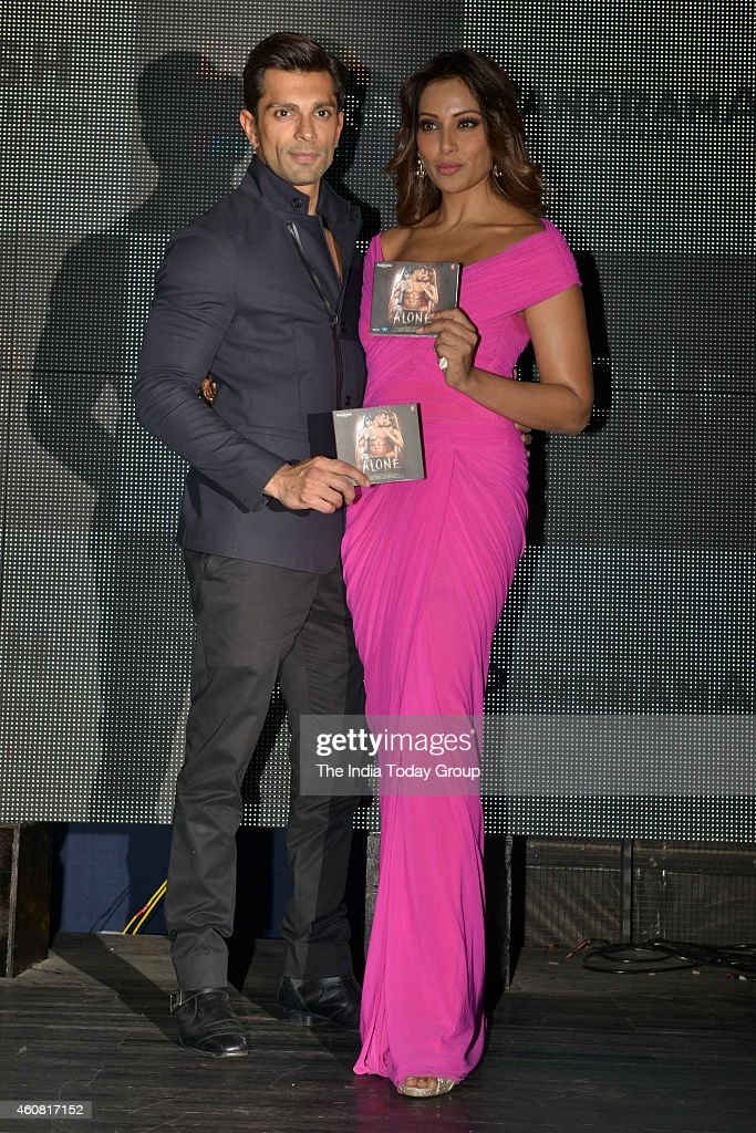 Bipasha Basu and Karan Singh Grover at the Trailer and music launch of their upcoming movie Alone in Mumbai