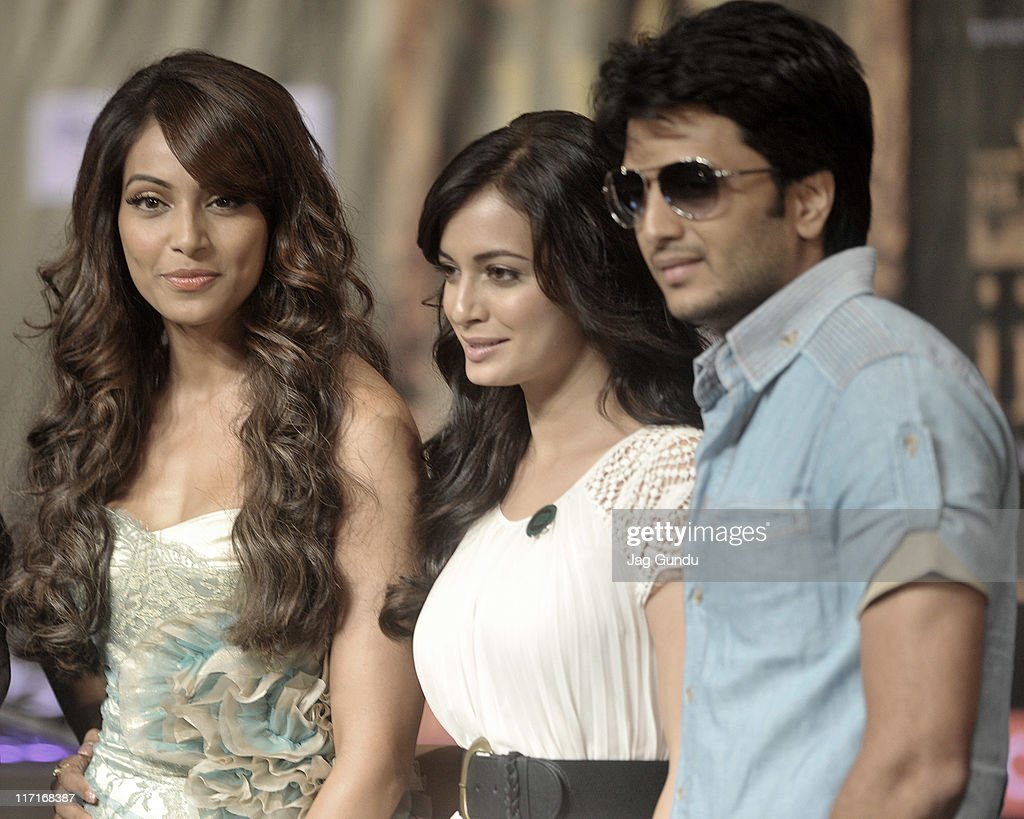 Bipasha Basu Diya Mirza and Ritesh Deshmukh at the official launch of the 2011 IFFA press conference at the Royal York Hotel on June 23 2011 in...