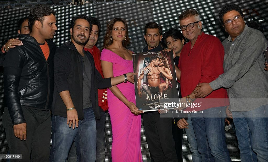 Bipasha Basu Karan Singh Grover and Bhushan Patel at the Trailer and music launch of their upcoming movie Alone in Mumbai