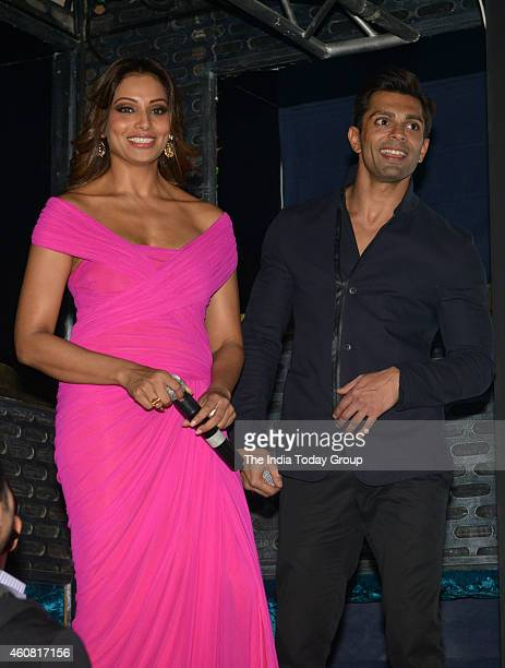 Bipasha Basu Karan Singh Grover at the Trailer and music launch of their upcoming movie Alone in Mumbai