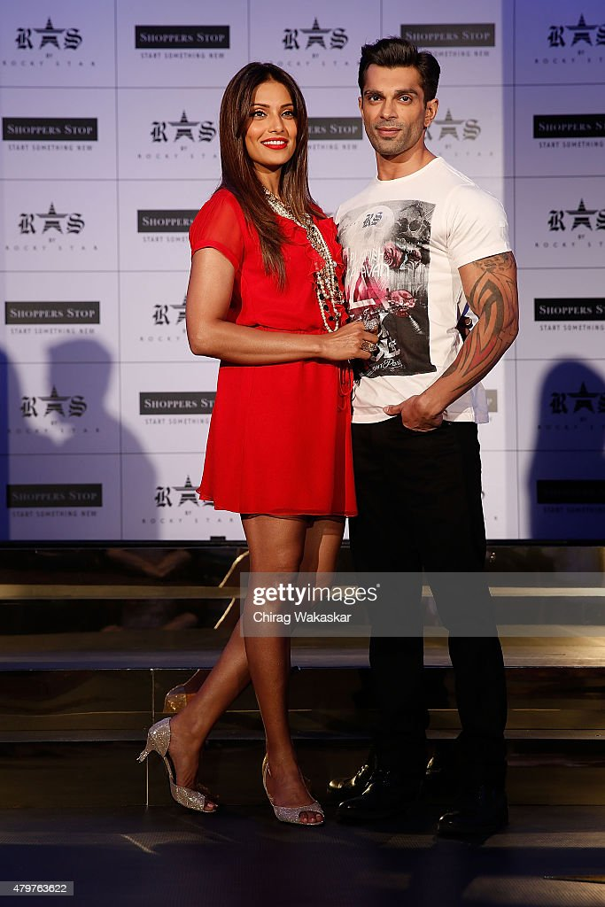 Bipasha Basu Karan Singh Grover present Shoppers Stop`s Rocky Star`s RS brand at JW Marriott on July 7 2015 in Mumbai India