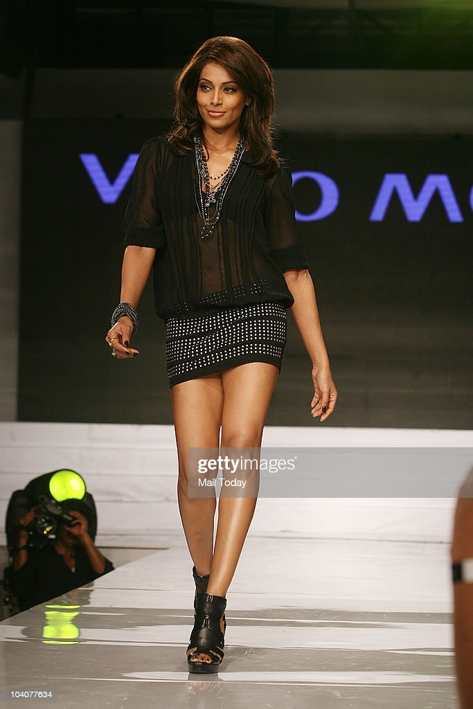 Bipasha Basu walks the ramp at the launch of three European apparel brands Only Vera Moda and Jack Jones in New Delhi on September 11 2010