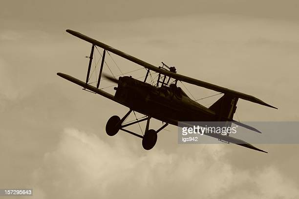 wwi biplane. - world war i stock photos and pictures