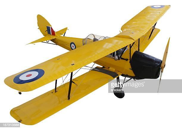 biplane - ww1 aircraft stock pictures, royalty-free photos & images