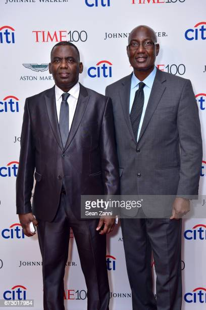 Biram Dah Abeid and Bakary Tandia attend the 2017 TIME 100 Gala at Jazz at Lincoln Center on April 25 2017 in New York City