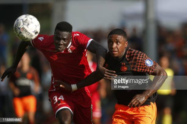 , Birama Ndoye of FC Sion, Steven Bergwijn of PSV during the Pre-season Friendly match between FC Sion v PSV Eindhoven at Stade Saint-Marc on July...