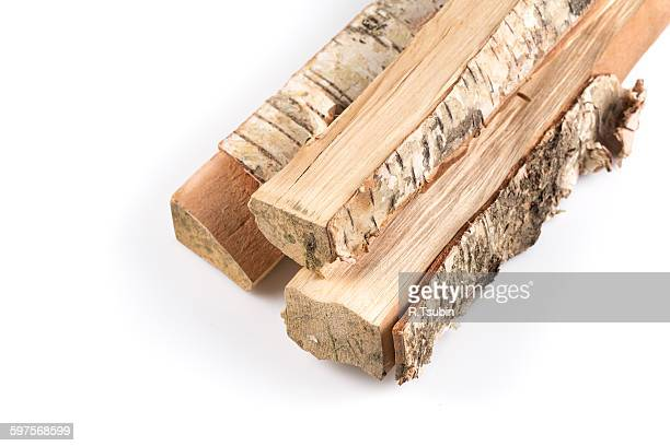 Birch firewood tree log