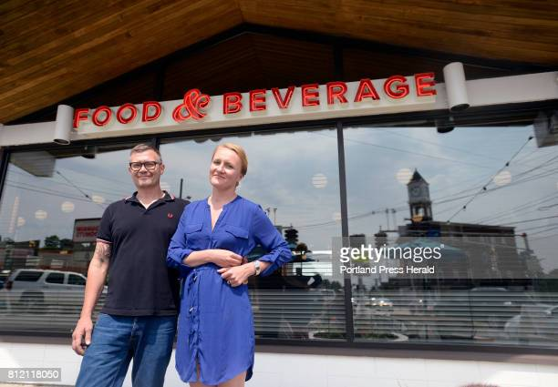 Birch Shambaugh and Fayth Preyer, owners of Woodford Food & Beverage Friday, June 30, 2017.