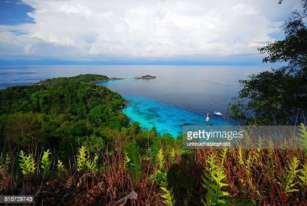 Bird eyes view of the Similan island