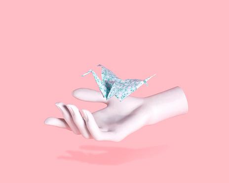 Bird In The Hand Concept - gettyimageskorea