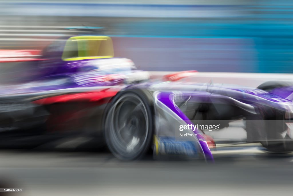 S. Bird of Virgin Racing during Rome E-Prix Round 7 as part of the ABB FIA Formula E Championship on April 14, 2018 in Rome, Italy.