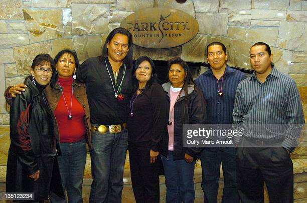 Bird Runningwater with Tribal Representatives during 2006 Sundance Film Festival Native Forum Party at Legacy Lounge in Park City Utah United States