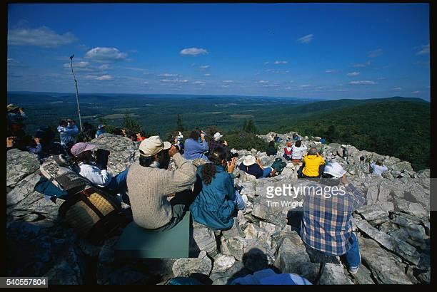 Bird Watchers on Hawk Mountain