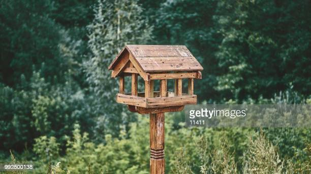 a birdhouse. - birdhouse stock pictures, royalty-free photos & images