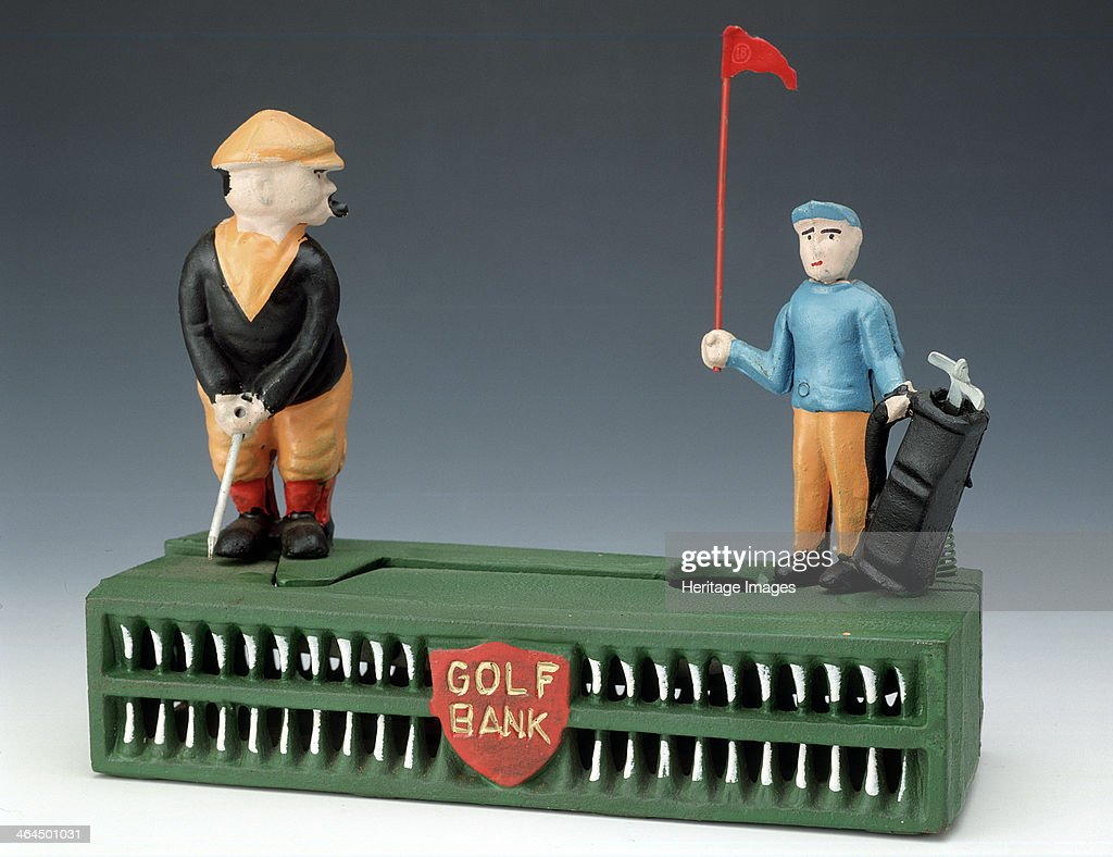 'Birdie Putt', money box, Taiwan, modelled on 1920s original. : News Photo