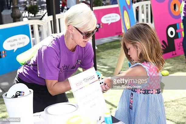 Birdie Silverstein attends Yoobi Fun Day at The Grove on July 31 2014 in Los Angeles California