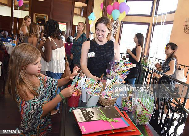 Birdie Silverstein Hosts Baby2Baby Back To School Event At The Grove Los Angeles on August 3 2016 in Los Angeles California