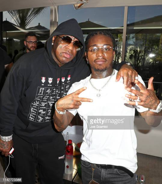Birdman and Jacquees attend Republic Records Celebrates Their Class Of 2019 In Coachella Valley at Zenyara on April 14 2019 in Coachella California
