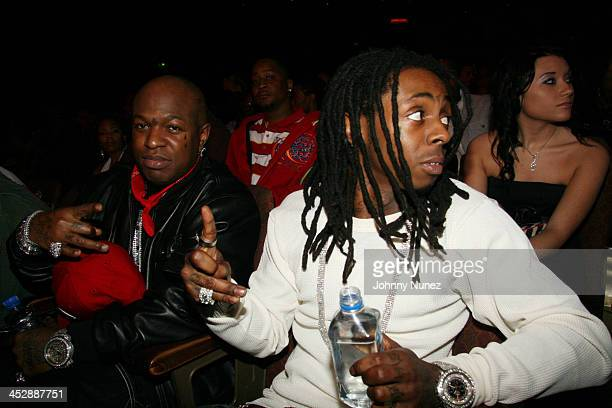 Birdman and Lil Wayne during 2006 BET HipHop Awards Inside at Fox Theatre in Atlanta Georgia United States