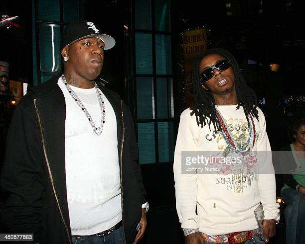 Birdman and Lil Wayne during Sucker Free on MTV with guests Letoya Baby Lil Wayne at MTV Studios in New York City New York United States
