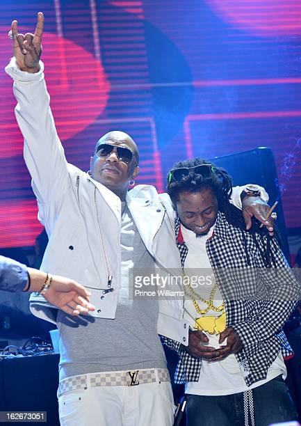 Birdman and Lil Wayne perform at Stereo Live at Lil Wayne Hosted Party at February 17 2013 in Houston Texas