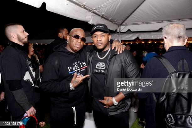 Birdman and Mack Maine attend Lil Wayne's Funeral album release party on February 01 2020 in Miami Florida