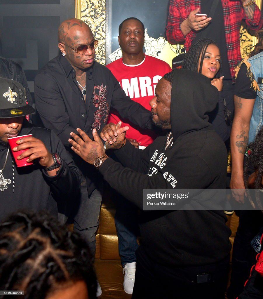 Birdman and Pierre Thomas attend Nipsey Hussle Album Release