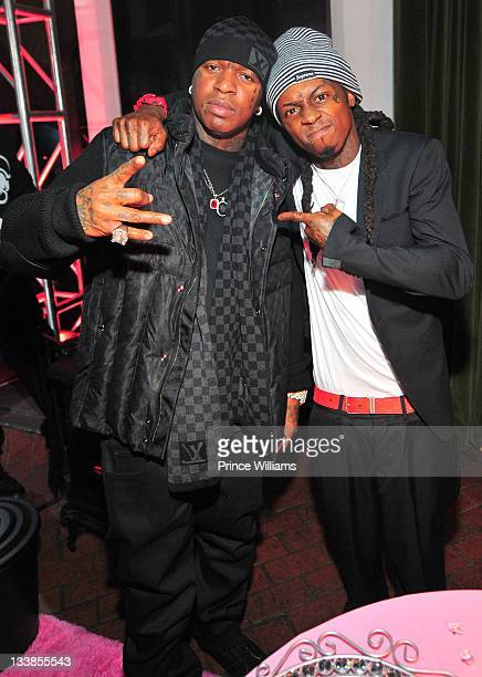 Birdman and rapper Lil Wayne attend Reginae Carter's 13th Birthday party at The Callanwolde Mansion on November 19 2011 in Atlanta Georgia