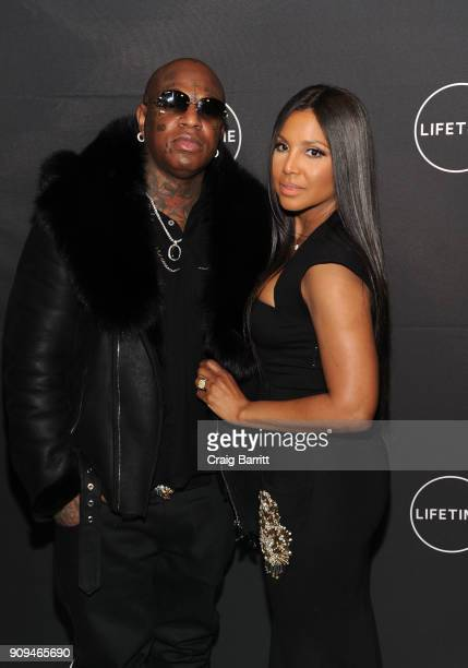 "Birdman and Toni Braxton attends Lifetime""s Film,""Faith Under Fire: The Antoinette Tuff Story"" red carpet screening and premiere event at NeueHouse..."
