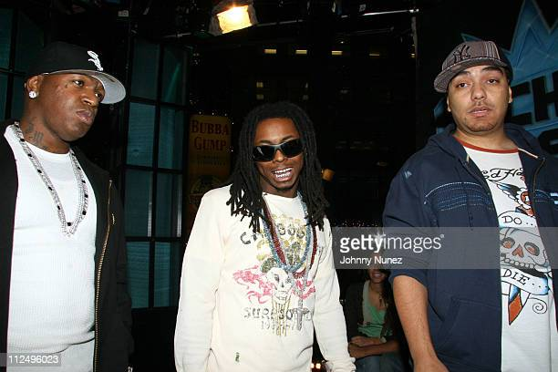 Birdman Lil Wayne and Cipha Sounds during Sucker Free on MTV with guests Letoya Baby Lil Wayne at MTV Studios in New York City New York United States