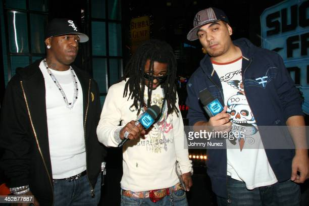 BirdmanLil Wayne and Cipha Sounds during Sucker Free on MTV with guests Letoya Baby Lil Wayne at MTV Studios in New York City New York United States