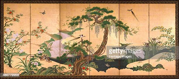 Birds and Flowers of Spring and Summer Second Half of the 17th cen Artist Eino Kano