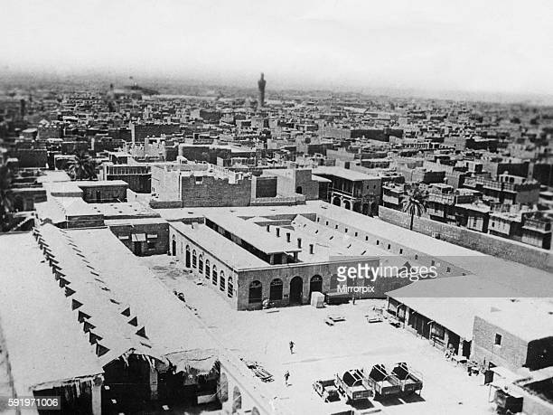 A birds eye view of Baghdad with the Abdul Qadir Jilani mosque in the distance Circa June 1917